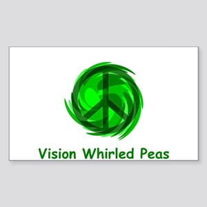 Whirled Peas Rectangle Sticker