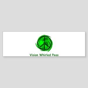 Whirled Peas Bumper Sticker