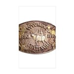 WY Centennial Sticker (Rectangle 10 pk)