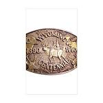 WY Centennial Sticker (Rectangle 10 pk)