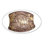 WY Centennial Sticker (Oval 50 pk)