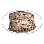 WY Centennial Sticker (Oval 50 pk)
