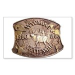 WY Centennial Sticker (Rectangle 50 pk)
