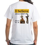 I believe with stripe - White T-Shirt