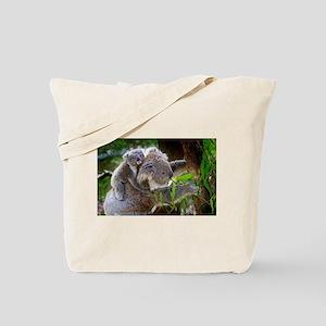Baby Koala Bear with mom Tote Bag