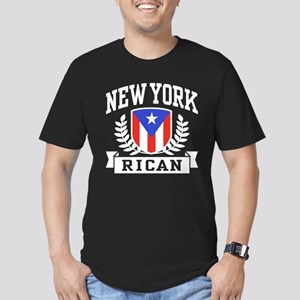 New York Rican Men's Fitted T-Shirt (dark)