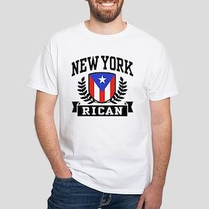 New York Rican White T-Shirt