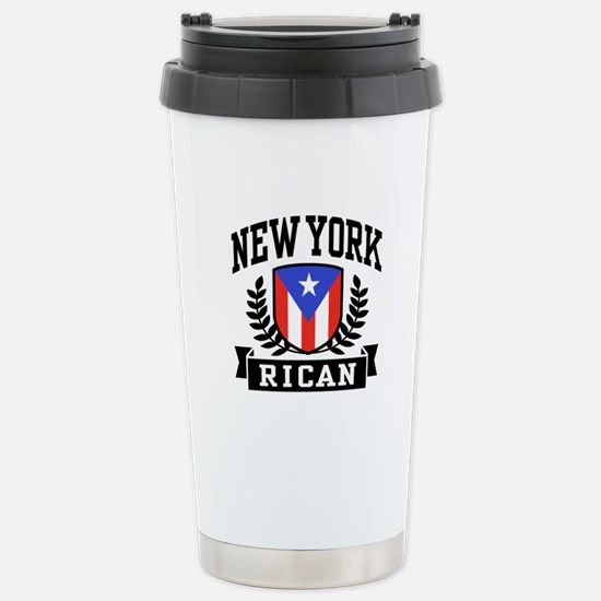 New York Rican Stainless Steel Travel Mug