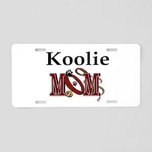 Koolie Dog Mom Aluminum License Plate