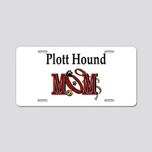 Plott Hound Mom Aluminum License Plate