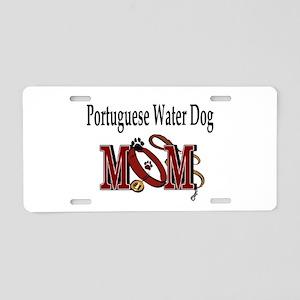 Portuguese Water Dog Mom Aluminum License Plate