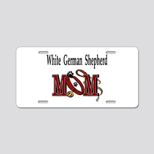 White German Shepherd Aluminum License Plate