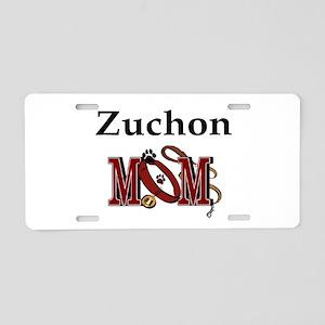 Zuchon Dog Mom Aluminum License Plate