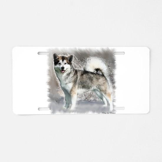 Alaskan Malamute Art Aluminum License Plate
