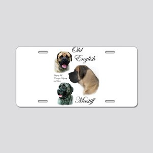 Old English Mastiff Aluminum License Plate