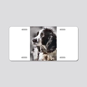 English Sp;ringer Spaniel Aluminum License Plate