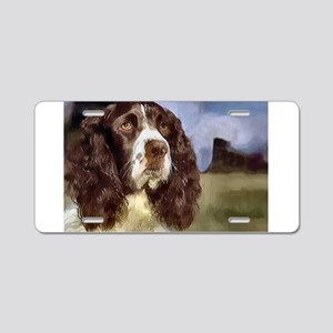 English Springer Spaniel Gift Aluminum License Pla