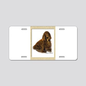 Field Spaniel Aluminum License Plate
