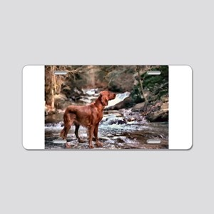 Irish Setter Art Aluminum License Plate