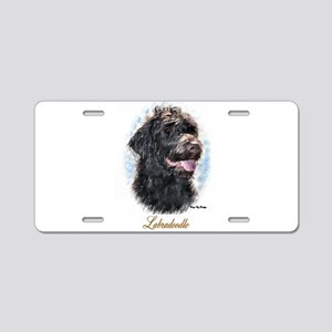 Labradoodle Art Aluminum License Plate