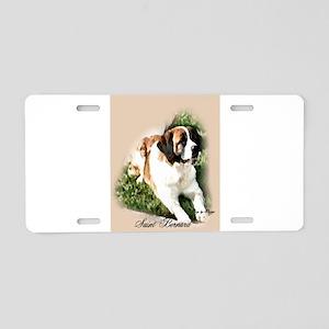 Saint Bernard Art Aluminum License Plate