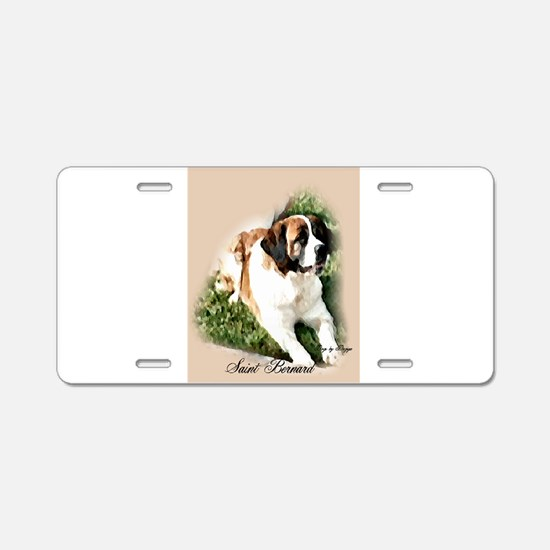 Saint Bernard Art Aluminum License Plate