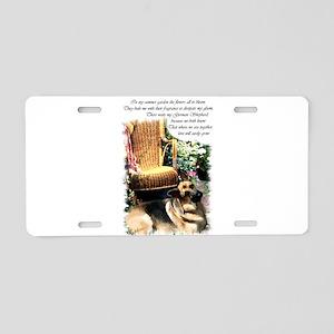 German Shepherd Art Aluminum License Plate