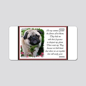 Pug Art Gifts Aluminum License Plate