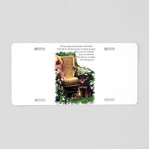 Rottweiler Art Aluminum License Plate