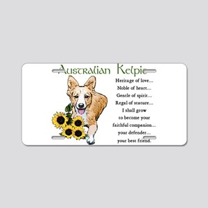 Australian Kelpie Aluminum License Plate