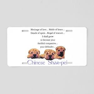 Shar-Pei Puppies Aluminum License Plate