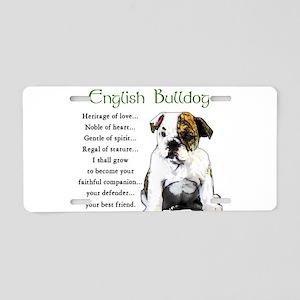 English Bulldog Aluminum License Plates - CafePress