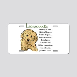 Labradoodle Aluminum License Plate