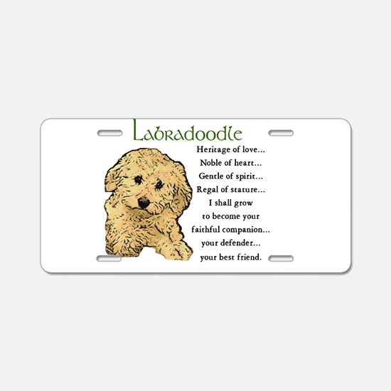 Labradoodle Aluminum License Plate