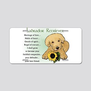 Labrador Retriever Aluminum License Plate