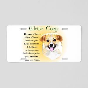 Welsh Corgi Aluminum License Plate