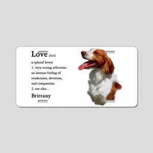 American Brittany Spaniel Aluminum License Plate
