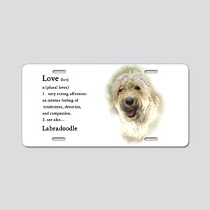 Labradoodle Love 1 Aluminum License Plate