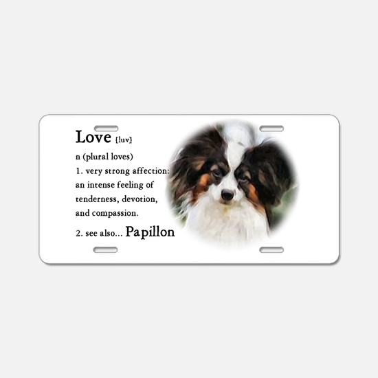 Papillon Gifts Aluminum License Plate