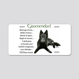 Groenendael Belgian Sheepdog Aluminum License Plat
