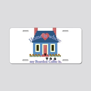 Bearded Collie Home Aluminum License Plate