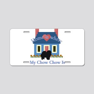 Chow Chow Home Is Aluminum License Plate