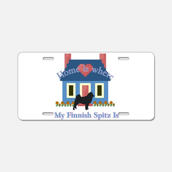 Finnish Spitz Home Is Aluminum License Plate