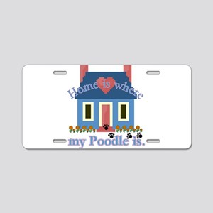 Poodle Lovers Gifts Aluminum License Plate