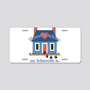 Schnoodle Lover Gifts Aluminum License Plate