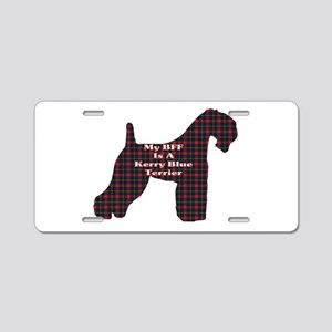 BFF Kerry Blue Terrier Aluminum License Plate