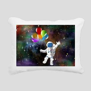 Astronaut with Balloons Rectangular Canvas Pillow