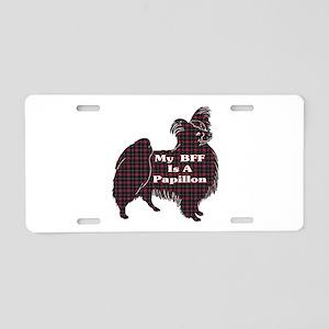 BFF Papillon Aluminum License Plate