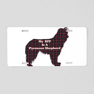 BFF Pyrenean Shepherd Aluminum License Plate
