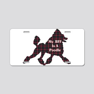 BFF Poodle Aluminum License Plate